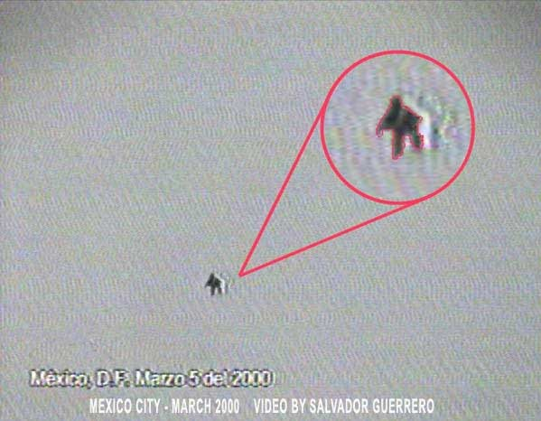 <div>Нечто похожее на гуманоида, снятое в марте 2000 года в Мексике.</div><br />